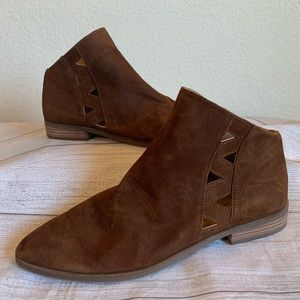 Lucky Brand Womens Size 10 Brown Suede Ankle Boots